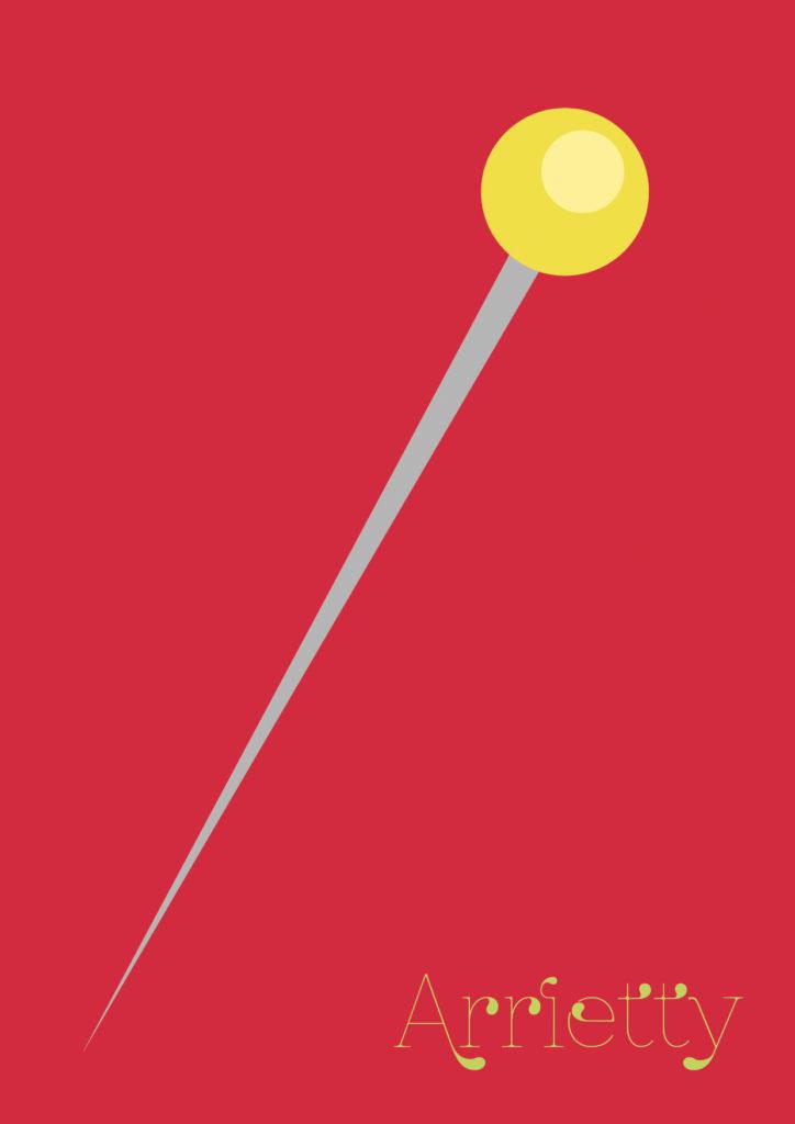 Affiche minimaliste Arrietty