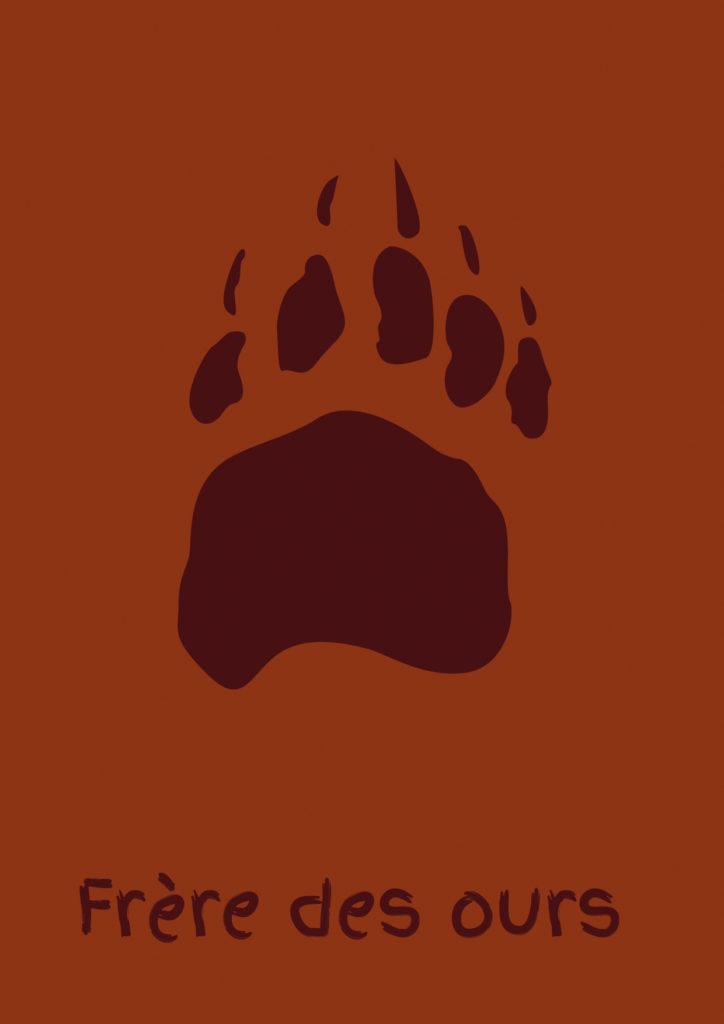 Affiche minimaliste Frère des ours
